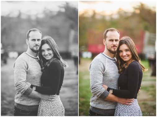 Erin + Dan | Dairy Farm Engagement Shoot